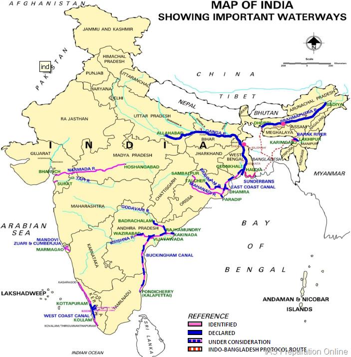 Allahabad River Map - Allahabad map